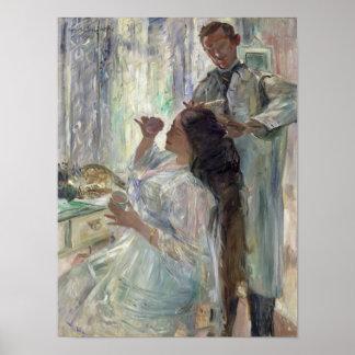 彼女の化粧台のシャーロットコリント、1911年 ポスター