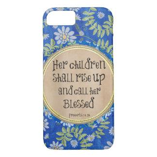彼女の子供は立上がり、彼女を賛美されて電話します iPhone 8/7ケース