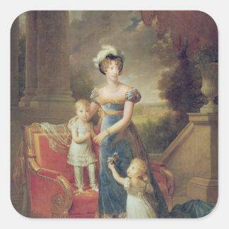彼女の子供を持つMarieキャロラインdeブルボン スクエアシール