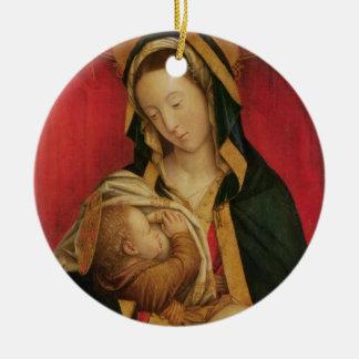 彼女の子供1520-30年を授乳するマドンナ(paの油 セラミックオーナメント