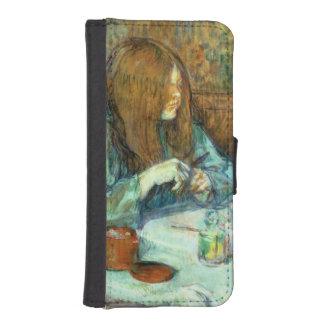 彼女の洗面所のPoupoule、1898年夫人 iPhoneSE/5/5sウォレットケース