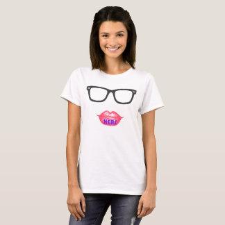 彼女の物基本的なTシャツ-白(女性) Tシャツ