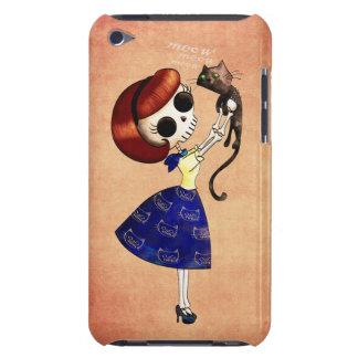 彼女の猫を持つ女の子の上の骨組Pin Case-Mate iPod Touch ケース