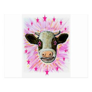 彼女の目の星を持つ牛 ポストカード