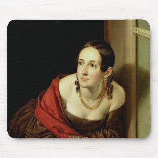 彼女の窓の女性または、aの妻 マウスパッド