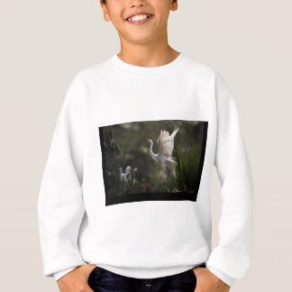 彼女の若者を守っている白鷺 スウェットシャツ