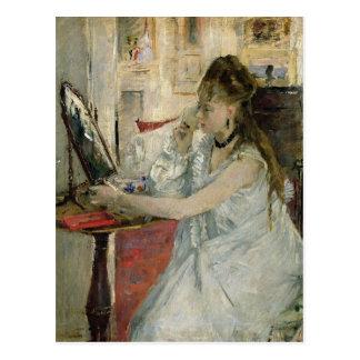 彼女の顔1877年を粉にしている若い女性 ポストカード
