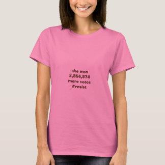 彼女はより多くの投票Tシャツに勝ちました Tシャツ