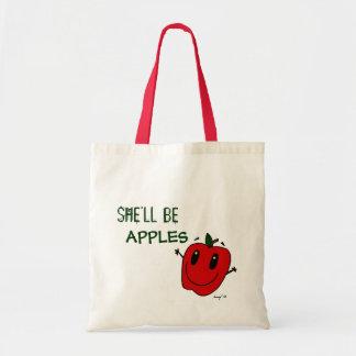 彼女はりんごのトートバックです トートバッグ