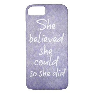 彼女は彼女をできました信じました従って彼女は引用しました iPhone 8/7ケース