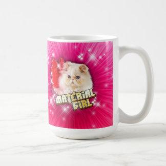 彼女は物質的な女の子のマグです コーヒーマグカップ
