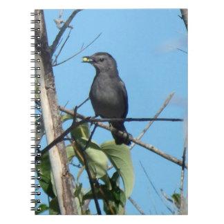 彼女への母Catbirdのギャザーの果実供給の赤ん坊 ノートブック