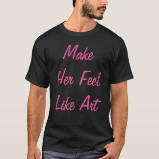 """""""彼女をTシャツ芸術のように""""の感じさせます Tシャツ"""