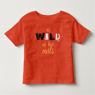 彼女野生カールのワイシャツ トドラーTシャツ