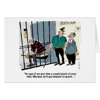 彼自身にガスを供給することを提供している監房群の囚人 カード