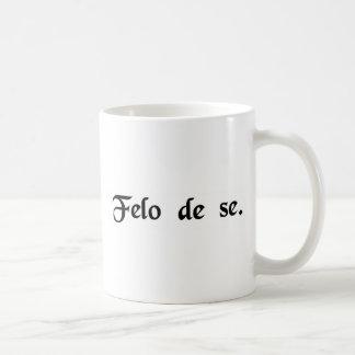 彼自身の重罪犯人。 (自殺) コーヒーマグカップ