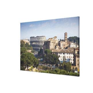 彼Colosseumかローマのコロシアム、最初に キャンバスプリント