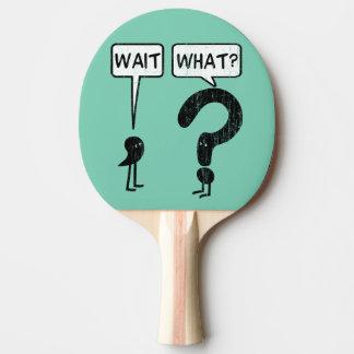 待ち時間、何か。 卓球ラケット