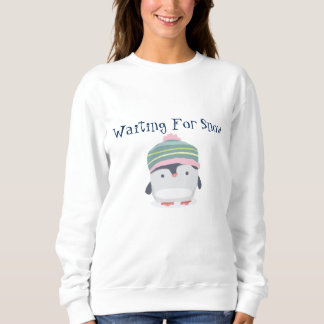 待っている雪の女性の基本的なスエットシャツ スウェットシャツ