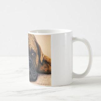 待っているBullmastiff -犬の品種芸術 コーヒーマグカップ