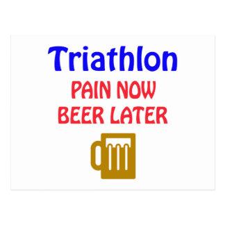 後で今トライアスロンの苦痛ビール ポストカード