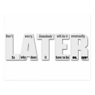 後で(procrastinatorの哲学 ポストカード