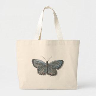 後につかれた青い蝶 ラージトートバッグ