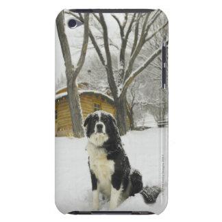 後ろ丸太小屋が付いている雪の着席の後をつけて下さい Case-Mate iPod TOUCH ケース