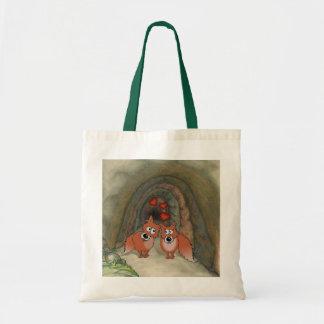 後ろ洞窟との愛の孤の漫画のスケッチ トートバッグ