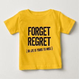 後悔を忘れて下さい ベビーTシャツ