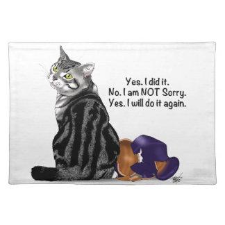 後悔猫無し ランチョンマット