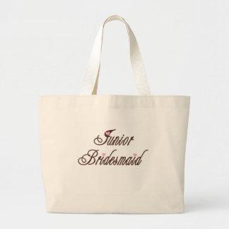 後輩の新婦付添人の上品な茶色 ラージトートバッグ