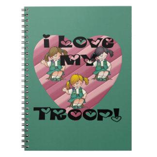 後輩I愛私の軍隊のハート ノートブック