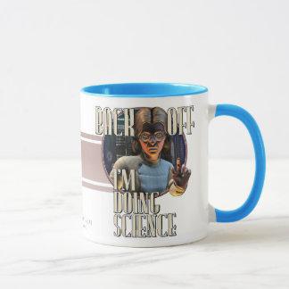 後退させて下さい-私は科学(w)のマグをしています マグカップ