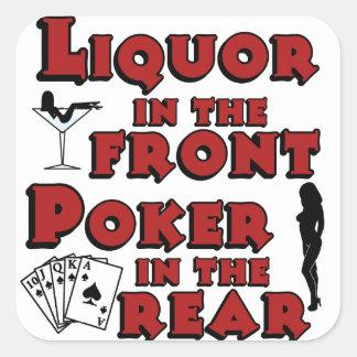 後部の前部トランプのポーカーのアルコール飲料 スクエアシール