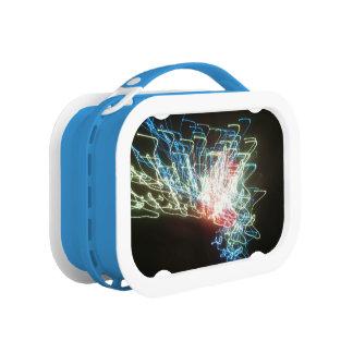徒歩旅行の青い扱われたYuboのお弁当箱 ランチボックス