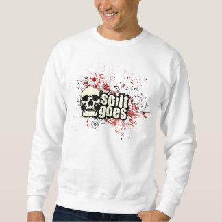 従ってそれはワイシャツスカルのデザインの行きます スウェットシャツ