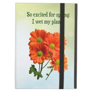 従ってぬれた春Iの間私の植物を刺激されて iPad AIRケース