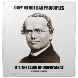 従って下さい遺産(グレゴール・ヨハン・メンデル)のMendelian法律に ナプキンクロス