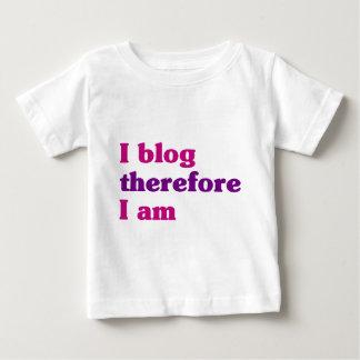 従って私は私ありますBlog ベビーTシャツ