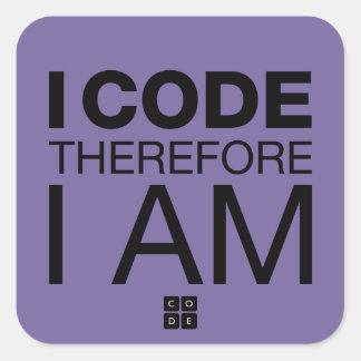 従って私は私をありますコードします スクエアシール