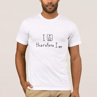 従って私は私をです周期表のしゃれのワイシャツ亜鉛でメッキします Tシャツ