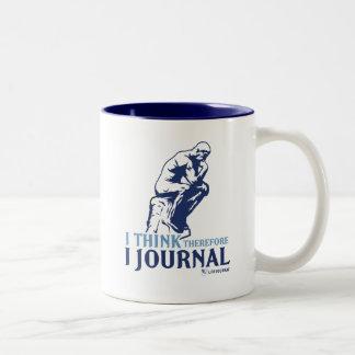 従って私は私を日誌に記します考えます ツートーンマグカップ