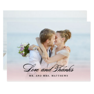 従って結婚する愛|で写真ありがとう カード