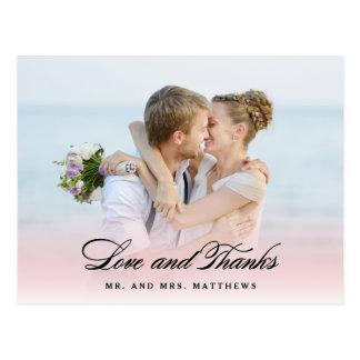 従って結婚する愛|で写真ありがとう 葉書き
