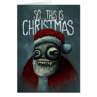 従って…これはクリスマスです カード