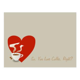 従って、コーヒー、権利を愛しますか。 -郵便はがき ポストカード