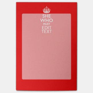 従われた赤い色でなければならない彼女のためのあなたの文字 ポストイット