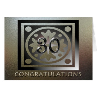 従業員の第30記念日のエレガントな金 カード