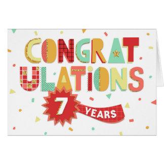 従業員記念日お祝い7年のおもしろいの カード